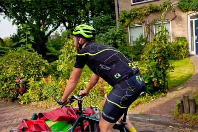 fietskoerier | op de fiets vervuil je niets